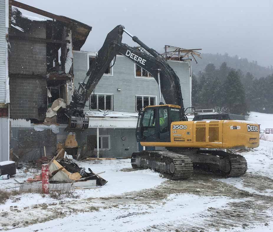 Ascutney Base Lodge Building Demolition