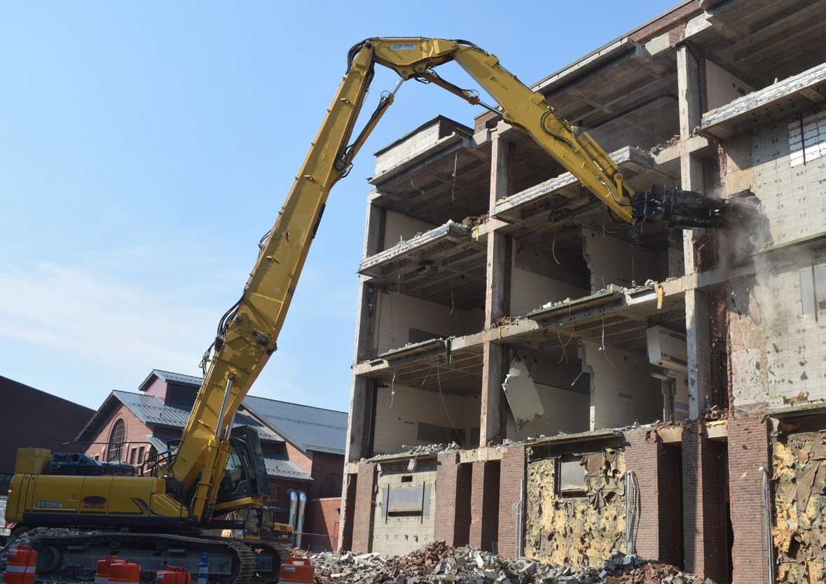 Mass Demolition - East Facade